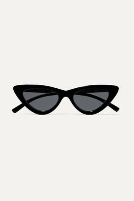 Le Specs + Adam Selman The Last Lolita Cat-eye Acetate Sunglasses