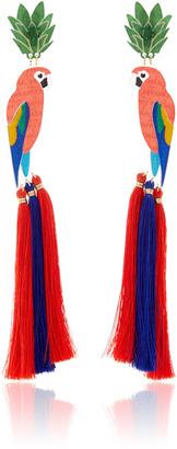 Mercedes Salazar Gucamayas en la Rama Earrings $238 thestylecure.com