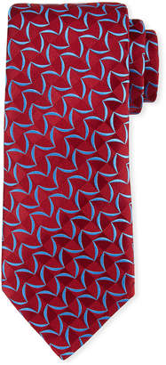 Charvet Patterned Tonal-Box Print Silk Tie