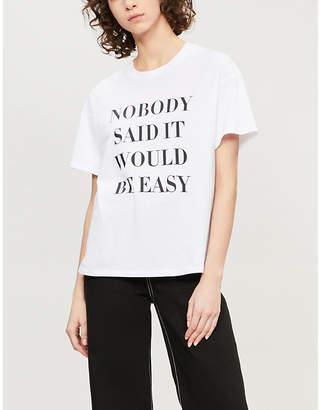 Nobody Denim Nobody Easy printed cotton-jersey T-shirt