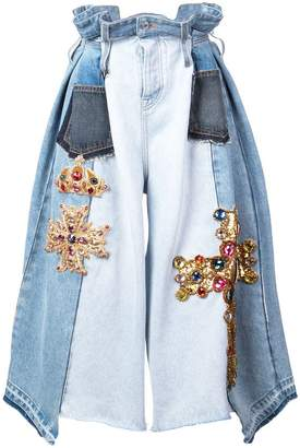 Dolce & Gabbana cropped wide-leg jeans
