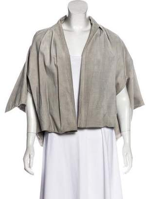 Vionnet Suede Cape Jacket