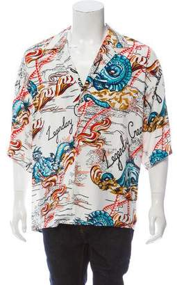 Alexander McQueen Legendary Graphic Print Button-Up Shirt