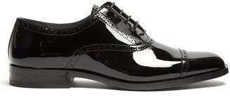 Saint Laurent Montaigne patent-leather derby shoes