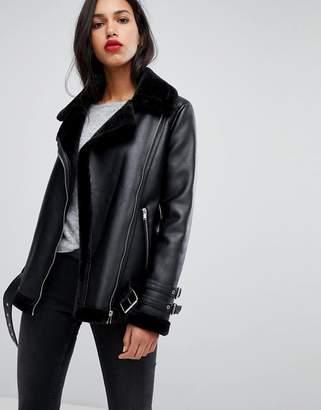 41755ee41 Womens Leather Aviator Jacket - ShopStyle Australia