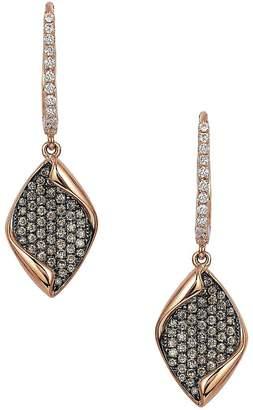 LeVian Le Vian Women's Chocolatier® Chocolate & Vanilla Diamond® Geometric Drop Earrings