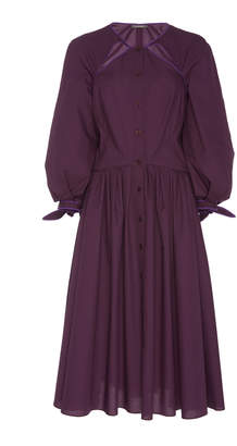 Zac Posen Cut Out Poplin Shirt Dress Size: 14