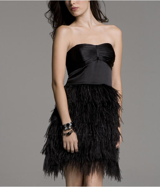 Feather Tube Dress