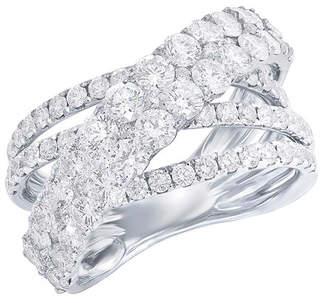 Diana M . Fine Jewelry 18K 3.20 Ct. Tw. Diamond Criss Cross Ring