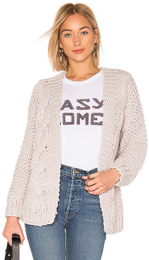 About Us Hope Cable Knit Cardigan