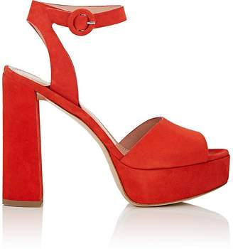 Barneys New York Women's Suede Platform Ankle-Strap Sandals