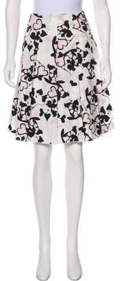 Prada Sport Heart Print Knee-Length Skirt