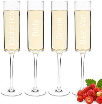 Cathy's Concepts Cathys Concepts Wedding Party 4-pc. Contemporary Champagne Flute Set