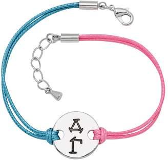 Kohl's Stainless Steel Sorority Symbol Disc Cord Bracelet