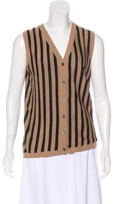 Marni Striped Sleeveless Cardigan