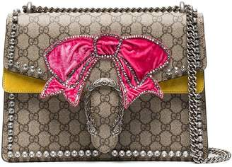 Gucci Brown Dionysus medium shoulder bag with bow
