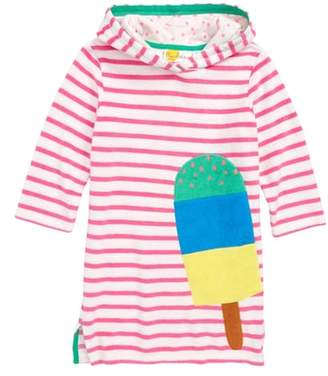 Boden Mini Applique Hooded Cover-Up Dress