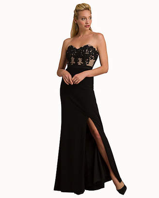 Le Château Embellished Strapless Fitted Gown