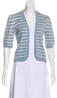 St. John Stripe Knit Cardigan