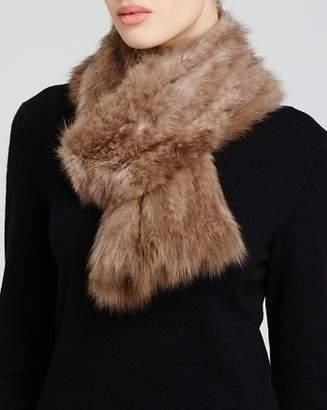 Maximilian Furs Maximilian Knitted Sable Scarf