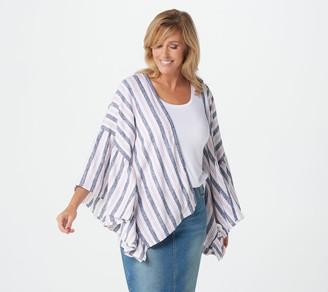 Laurie Felt Flutter Sleeve Open Front Kimono