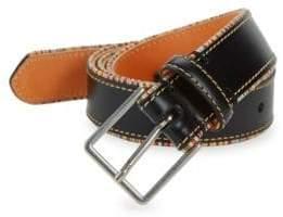 Paul Smith Multi-Stripe Piping Leather Belt