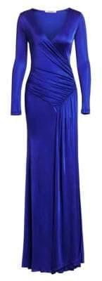 Roberto Cavalli Women's Jersey Wrap Gown - Sapphire - Size 38 (2)