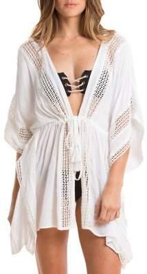 Elan International Crochet Kimono Coverup