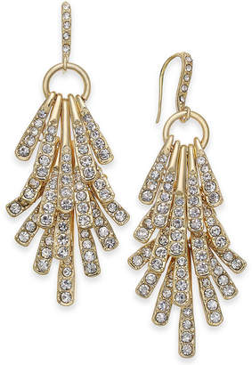 INC International Concepts I.n.c. Gold-Tone Pave Stick Shaky Chandelier Earrings, Created for Macy's