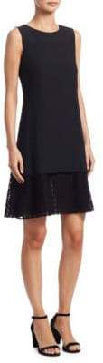Akris Punto Dot Lace Hem Shift Dress
