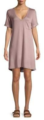 Tresics Luxe Short-Sleeve Mini T-Shirt Dress