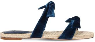 Alexandre Birman 10mm Clarita Velvet Espadrilles