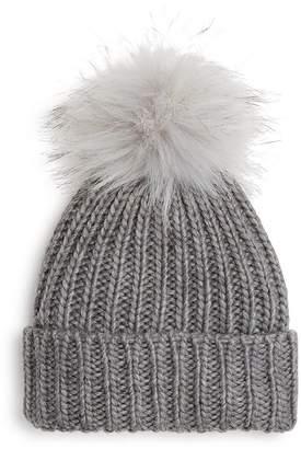 9509937678d Kids Fur Pom Pom Hat - ShopStyle