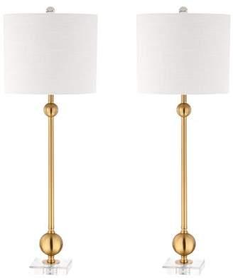 Mercer41 Woodsburgh Metal 34 Table Lamp Set