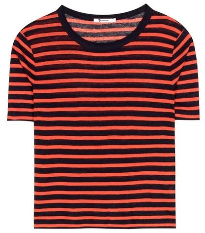Alexander WangT by Alexander Wang Striped jersey T-shirt