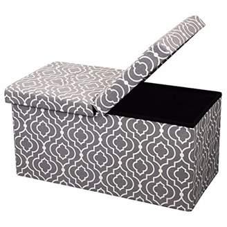 "Otto & Ben 30"" Storage Ottoman - Folding Toy Box Chest with SMART LIFT Top"