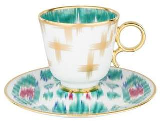 Hermes Set of 16 Voyage En Ikat Coffee Cups & Saucers