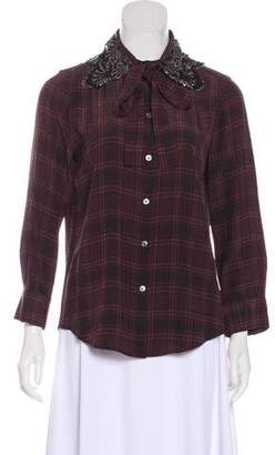 Marc Jacobs Silk Plaid Blouse