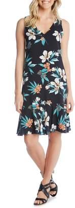 Karen Kane Sleeveless Ruffle Hem Dress