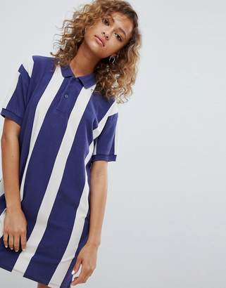 Pull&Bear rugby dress in colourblock blue
