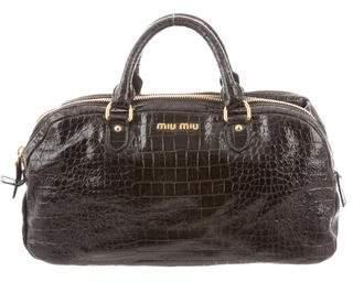 Miu Miu Embossed Leather Bag