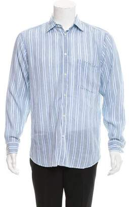 Zegna Sport Striped Linen-Blend Shirt