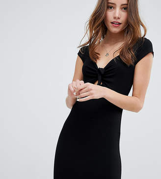 Miss Selfridge dress with tie front detail in bodycon