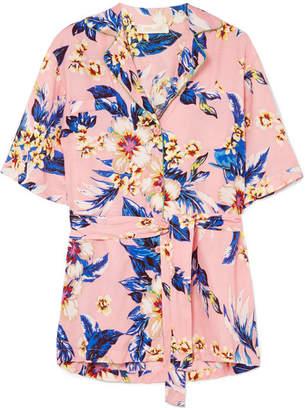Diane von Furstenberg Floral-print Twill Shirt - Baby pink