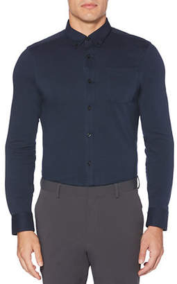 Perry Ellis Slim-Fit Long-Sleeve Knit Shirt