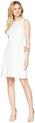 Taylor Soft Petal Textured Cocktail Dress Women's Dress