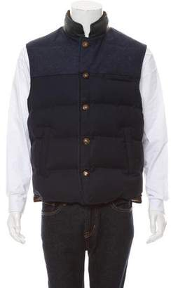 Luciano Barbera Puffer Quilted Vest w/ Tags