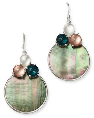 Ippolita Sterling Silver Wonderland Moroccan Dusk Mother-of-Pearl, Clear Quartz & Shell Drop Earrings