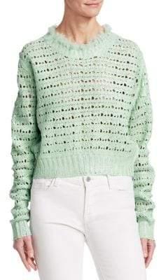 Acne Studios Aysana Pointelle Knit Sweater