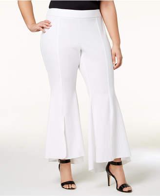 INC International Concepts I.n.c. Plus Size Flared High-Low Hem Pants